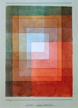 White framed polyphonically of artist Paul Klee as framed image
