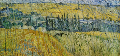Rain-Auvers of artist Vincent van Gogh as framed image