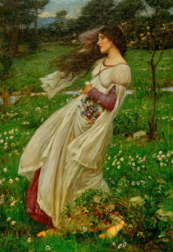 Kunstdruck, individuelle Kunstkarte: John William Waterhouse, Windblumen