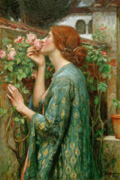 Kunstdruck, individuelle Kunstkarte: John William Waterhouse, Die Seele der Rose
