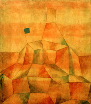 Fine Art Reproduction, individual art card: Paul Klee, Castle Hill