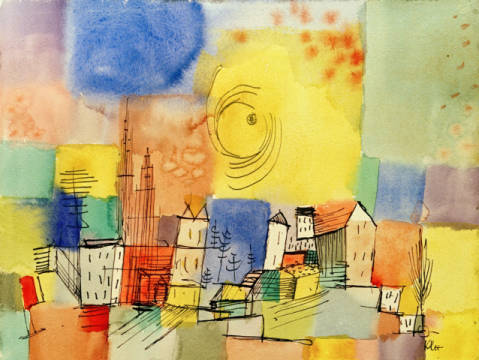 Fine Art Reproduction, individual art card: Paul Klee, German City BR