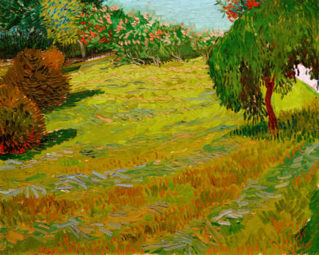 Sunny Lawn in a Public Park of artist Vincent van Gogh as framed image