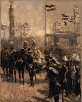 Robert Warthmüller - Kaiser Wilhelm I thanking Prince Bismarch, at the unveiling of the Siegess{ule