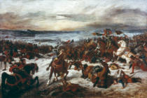 Eugène Delacroix - The Death of Charles the Brave in the Battle of Nancy
