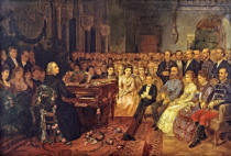 Franz Schams - A concentrated Franz Liszt in the ball room in Budapest