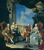 Martin van Meytens - The imperial family on the terrace of Schoenbrunn Palace