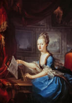 AKG Anonymous - Marie Antoinette as th.Austrian archduchess at the spinet