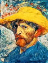 Vincent van Gogh - Selfportrait with yellow Straw Hat.