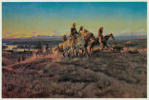 Charles Marion Russell - Men of the Open Range / Russell