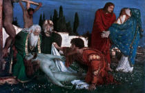 Arnold Böcklin - A.Boecklin/Lamentation of Christ/1876