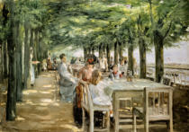 Max Liebermann - Terrace of Restaurant Jacob in Nienstedten on the Elbe