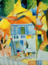 August Macke - Innenhof des Landhauses in St.Germain