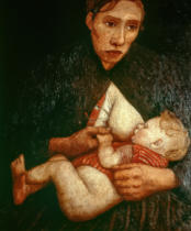 Paula Modersohn-Becker - Stillende Mutter