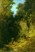 Carl Spitzweg - The Angler, c. 1875