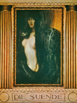 Franz von Stuck - Sin (with frame) / 1893