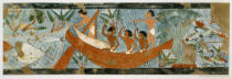 Ägyptische Malerei - Fishing / Egyptian Fresco / Tomb of Ipui