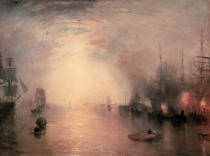 Joseph Mallord William Turner - Keelmen Heaving in Coals by Moonlight