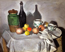 Paul Cézanne - Stilllife with Fruit and Dishes