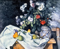 Paul Cézanne - Stilllife with Flowers and Fruit