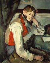 Paul Cézanne - Young Man with red Waistcoat