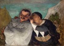 Honore Daumier - Crispin and Scapin