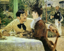 Edouard Manet - Paar bei Pere Lathuille