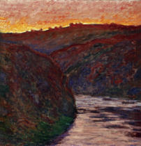 Claude Monet - The Creuse at sunset