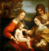 Correggio - The mystic marriage of St.Catherine