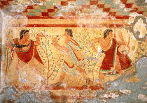 Wandmalerei - Servants / Etruscan Wall Paint./ C5th BC