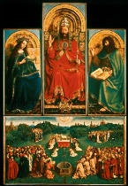 Jan van Eyck - Maria / God the Father / John the Baptist / Offering of the Paschal lamb