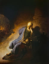 Harmensz van Rijn Rembrandt - Jeremiah, lamenting the destruction of Jerusalem