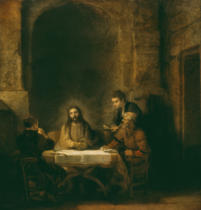 Harmensz van Rijn Rembrandt - Christ and the Disciples in Emmaus
