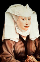Rogier van der Weyden - Portrait of a Woman with white headdress