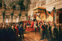 Anton Alexander von Werner - Opening of the German Reichstag in the White Hall of the Berlin Schloss, by Kaiser Wilhelm II.