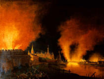 Christian Johann Oldendorp - The Fire of Moscow