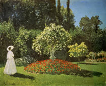 Claude Monet - Woman in a Garden, 1867