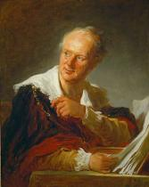 Jean-Honore Fragonard - Portrait of Denis Diderot