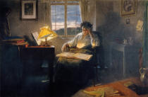 Rudolf Eichstaedt - Beethoven at dawn in his study