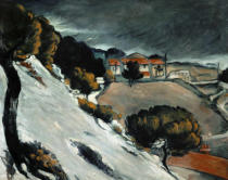 Paul Cézanne - Schneeschmelze in L'Estaque1870