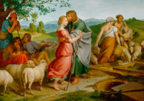 Joseph Ritter von Führich - Jacob meeting Rachel near her father's flocks