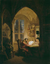 Georg Friedrich Kersting - Faust in his study