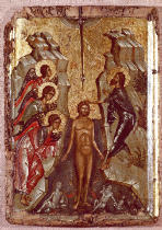 AKG Anonymous - Baptism of Christ / Byzantine Icon