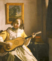 Jan Vermeer van Delft - Guitar player