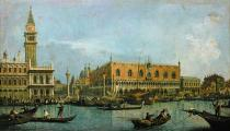 Francesco Guardi - Canale di S.Marco with Zecca, Libreria, Campanile, Piazzetta and Doge's palace