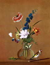 Fedor Petrowitsch Tolstoi - Bouquet of Flowers with Butterfly and Bird