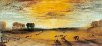 Joseph Mallord William Turner - Petworth Park with Tillington church in the background