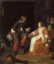 Gabriel Metsu - Lady and officer