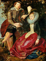 Peter Paul Rubens - The painter and his wife Isabella Brant in the honeysuckle