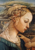 Fra Filippo Lippi - Madonna and child with two angels